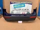 Seat Tarraco Achterbumper 4xPDC LC5B Atlantic Blue Metallic_