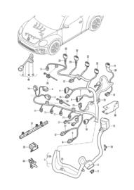VAG VW kabelboom voor motor CZDA  04E971627BL