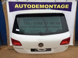 VW Touareg 7P klep achterklep met spoiler wit LOK1