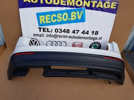 achterbumper VW Tiguan 5NA pure white 4x PDC