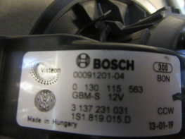 Aanjager kachelmotor ventilator VW UP  1S1819015D