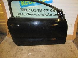 Polo 6r portier deur rechts zwart LC9X 3-deurs kaal