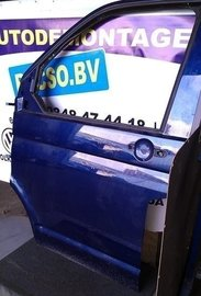portier deur T5 Transporter links voor india blauw LL5M kaal