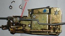 T4 deur slot reparatie veer deurslot veertje CV nieuw rechts