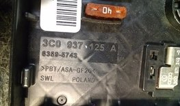 VW Passat CC 2010 3C Q3 zekeringkast 3C0937125A benzine