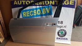 Golf 7 portier deur met schade links Voor LA7W kaal