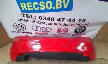 achterbumper Audi A1 bumper rood krasjes