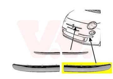 FIAT 500 VOORBUMPERSIERLIJST L. Chroom Niet GT 735511639