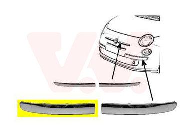 FIAT 500 VOORBUMPERSIERLIJST R.Chroom Niet GT 735511640