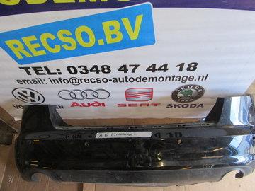 Achterbumper Audi A6 Sedan Zwart Vanaf 2009 4F5807511E