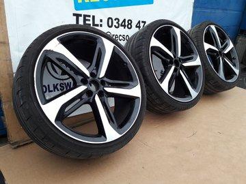 3X Orginele Audi A6 RS6 Velgen en Banden Pirelli 265/30R21 4G0601025CM CN