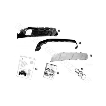 Bumperafdekking in zwart / zilver voor Amarok  2H0071003
