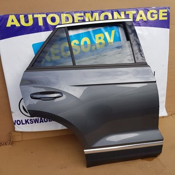 VW T-Roc portier deur Rechts Achter Donker Grijs LR7H