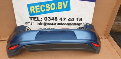 Golf 7 Achterbumper 4XPDC LA5J Pacific blue-metallic 5G6807421