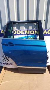 VW Tiguan 2016 Rechts achter portier deur Carribean blue LD5J