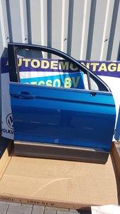 VW Tiguan 2016 Rechts Voor portier deur Carribean blue LD5J