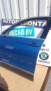 VW Tiguan 2016 Links Voor portier deur Carribean blue LD5J