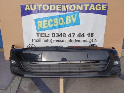 VW Golf 7 Voorbumper LC9X Zwart Metallic 6X PDC Met KLS